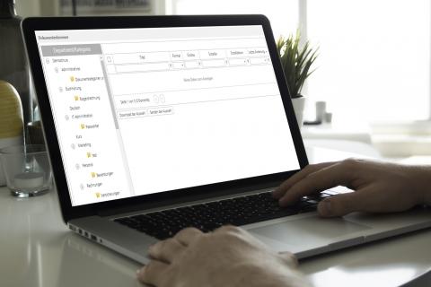 Archivieren der Dokumente in individuellen Ordnerstrukturen der cloudbasierten Kurs- und Schulverwaltungssoftware