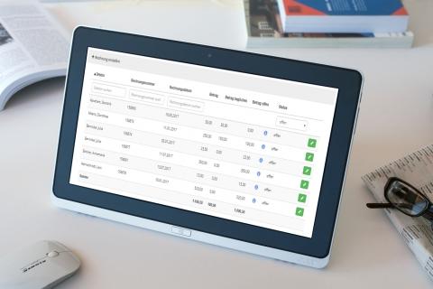Die Kurs- und Schulverwaltungslösung von All4Schools mit Rechnungssoftware für den Überblick über Ihre Debitoren