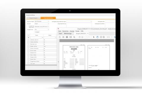 Mit der webbasierten Schulverwaltungssoftware und dem Datenmanagement Zeugnisse einfacher erstellen